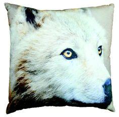 Kussen wolf 40 x 40; leuk voor natuurkamer.