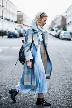 Whistles coat and dress, Rebecca Minkoff bag.. #happilygrey #streetstyle