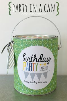 DIY Party in a Can #birthday #party #giftidea