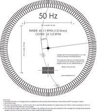 Turntable Phono Cartridge Stylus Alignment Protractor Tool