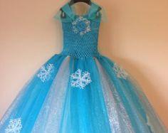 Elsa tutu vestito parrucchino ispirata e libera dimensione nb per 10 anni