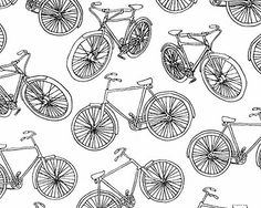 Bicycle sketch fabric from Timeless Treasures, also from eQuilter (trueup)