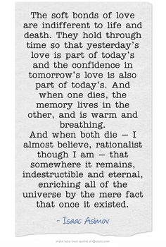 Isaac Asimov...would be a good reading for a geek wedding.