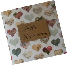 Handmade Anniversary Card   wowthankyou.co.uk £1.25
