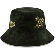online store fe8fe 694fc Oakland Athletics New Era 2019 MLB Armed Forces Day Bucket Hat - Camo, Your  Price