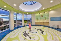 Lobby, Joe DiMaggio Children's Hospital, Hollywood, FL.