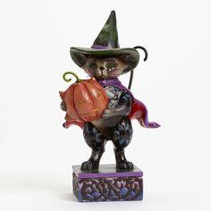 Pint Sized Halloween Cat Figurine