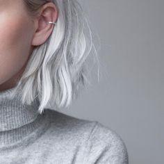 """StillWithYou på Instagram: """"Basic kind of day / Minimal ear cuff in silver"""""""