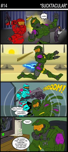 Another Halo Comic Strip Halo Quotes, Halo Funny, Energy Sword, Halo Collection, Halo Game, Halo 2, Halo Reach, Red Vs Blue, Funny Games