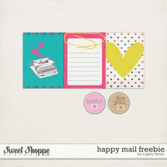 Free Happy Mail Journal Cards from Sugary Fancy {on Facebook}