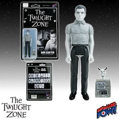 The Twilight Zone Don Carter 3 3/4-Inch Action Figure:   Got a penny for your future? Retro-styled, 3 3/4-inch scale action figure celebrating The Twilight Zone episode 'Nick of Time.' Features 5 points of articulation and includes a Mystic Seer accessory. Bring Don Carter to life right before your eyes with our The Twilight Zone Don Carter 3 3/4-Inch Action Figure from Bif Bang Pow!. Designed similar to the action figures released in the '70s, this black-and-white Don Carter retro-sty...