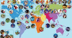 (Mappa) La Geografia dei Personaggi Disney | Smartweek