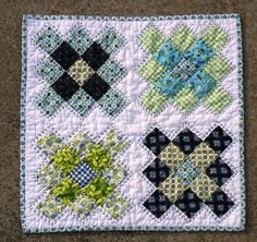 Granny Squares Mini Quilt by JenNewby71, via Flickr