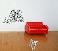 101 Dalmatian Cartoon Dogs Disney Wall Art Decal Sticker d1
