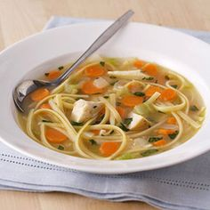 Most purchased soups are loaded with sodium, so make your own with this low-sodium chicken soup recipe. It's great for lunch or dinner with a sandwich.