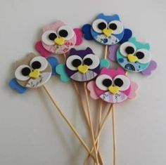 Creative Arts And Crafts, Diy And Crafts, Crafts For Kids, Owl Crafts, Animal Crafts, Foam Sheet Crafts, Pencil Crafts, Pencil Toppers, Candy Cards