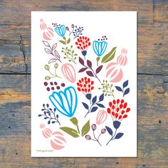 Let's Grow Wild Print, by marutdesign on Folksy, £13.00