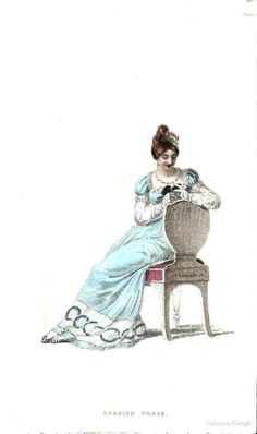 Evening Dress from Ackermann's Repository of the Arts January 1815