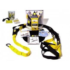 TRX Suspension Trainer Professional Product Features Total-body training tool with pair of nylon straps for go-anywhere workouts  Nylon straps use your body weight and gravity to create resistance  Attaches to any elevated fixture, including pull-up bar, door, or tree branch  Supports hundreds of exercises for strength, flexibility, and core stability  Includes workout DVD, waterproof fold-out setup guide, and mesh storage bag