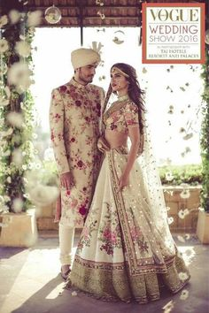 Wedding season is around, and it really gets tough for the brides and grooms to decide on their wedding day attire. Here are few ways to follow this trend.