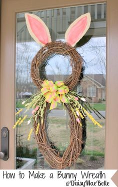 How to Make a Bunny Wreath