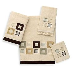 Avanti Metropolis Bath Towel Collection in Linen