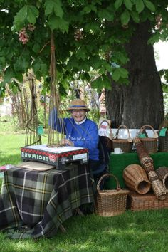 Ashwell's very own Yeoman Basket Maker, Sandra Barker will be demonstrating the traditional craft of English willow basket making at Ashwell at Home this year and will also have some special items for sale. Haven't got round to mending that chair seat?  Get some advice on how to do it!  After speaking to Sandra wander down to St Mary's church for a Harp Recital.