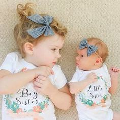 2017 Newborn Infant Toddler Baby Kids Girls Big Sister T Shirts Little Sister Matching Clothes Jumpsuit Romper Outfits Set Big Sister T Shirt, Big Sister Little Sister, Baby Sister, Little Sisters, Big Little, Toddler Pictures, Newborn Pictures, Baby Pictures, Little Sister Pictures