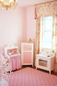Pink Paradise, The perfect pink bedroom for our little princess (she's 4 1/2).  I decorated it myself including all the bedding, curtains.  The tree is just there for the holidays!  Normally, a cute little table and chairs sits there in front of the window.  Enjoy!, Girls' Rooms Design