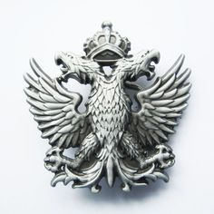 Vintage Russian Double Headed Empire Eagle Belt Buckle Also Stock In Us