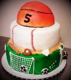 Multi Sports Cake cakepins.com
