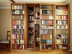 Sliding bookshelves #literaryspaces