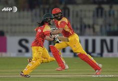 Misbah-ul-Haq and Javeria Khan batting together last night. Probably the first time anything like this has happened in Pakistan's Cricket History.