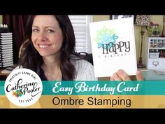 Ombre Stamping: Hand Made Birthday Card with Catherine Pooler