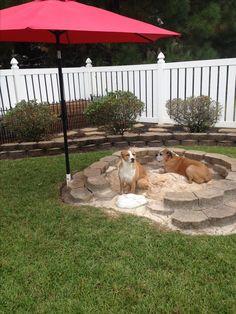 DIY doggy sandbox! For those who