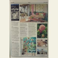 Did you get this weekend's Sunday Times Home weekly? What a great My Style article on Haidee.  #sundaytimes #homeweekly #mystyle #dreamweaverstudios #eijffinger #kramerville
