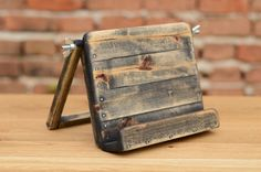 Wooden iPad stand iPad Holder Holz iPad Ständer by WoodRestart