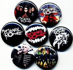 My Chemical Romance button badge pin set lot by BangBangg on Etsy, $3.99.. MUST HAVE O__O