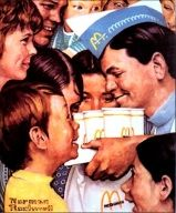 Fast food worker @ McDonald's...Norman Rockwell