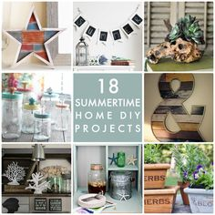 18 Summertime Home DIY Projects -- Tatertots and Jello