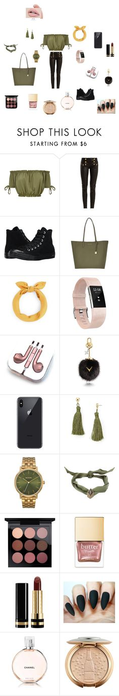 """""""Untitled #8"""" by maysalhassani ❤ liked on Polyvore featuring Balmain, Converse, Michael Kors, Fitbit, PhunkeeTree, Louis Vuitton, Aqua, Nixon, Yves Saint Laurent and Gucci"""