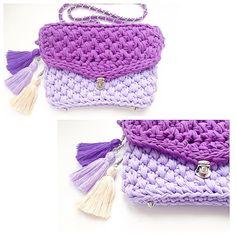 Связанная сумка трикотажной пряжей