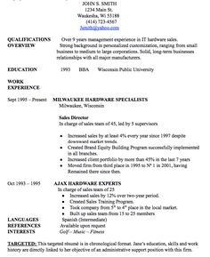 resume dates of employment
