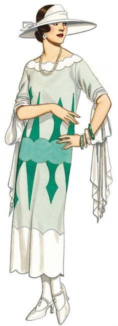 1920's Summer Frock Dress One Hour Dress