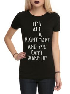 American Horror Story  Coven It s All A Nightmare Girls T-Shirt e5a13ff46
