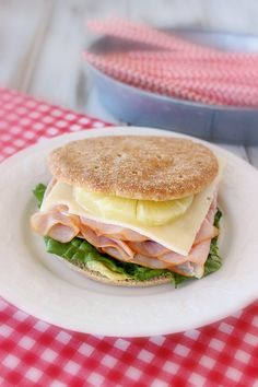 Ham, Swiss and Pineapple Sandwich