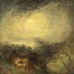 "The Evening of the Deluge"", 1843, Joseph Mallord William Turner"