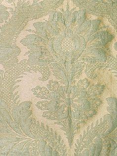Grand Siecle-Aigue Marine wool & silk damask, Colony through Scalamandre