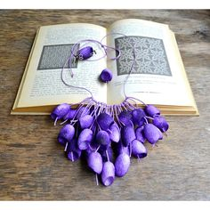 necklace silk cocoon earrings lilac necklace pendants cocoons jewelry... via Polyvore featuring jewelry, necklaces, silk jewelry, pendant jewelry, silk necklace and pendant necklace