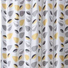 Yellow and Gray Shower Curtain Bathroom | Grey & yellow shower curtain